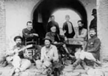Gauchos in group seated